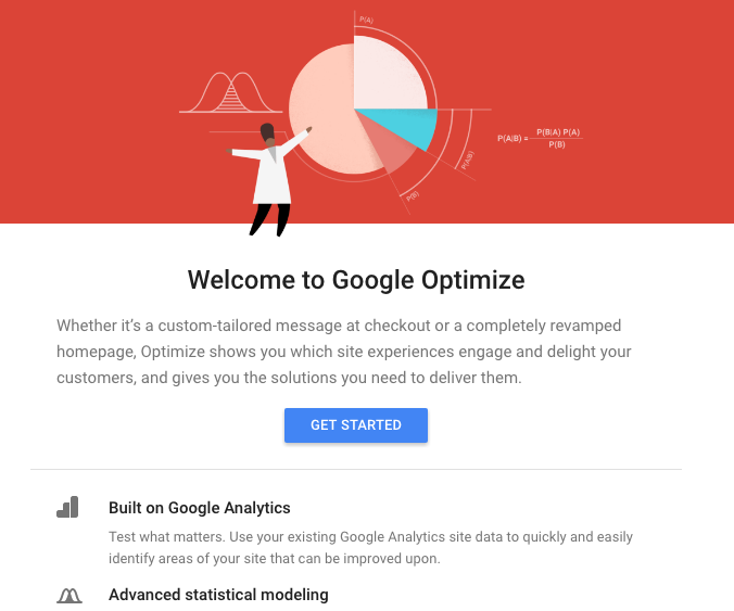 welcome to google optimize