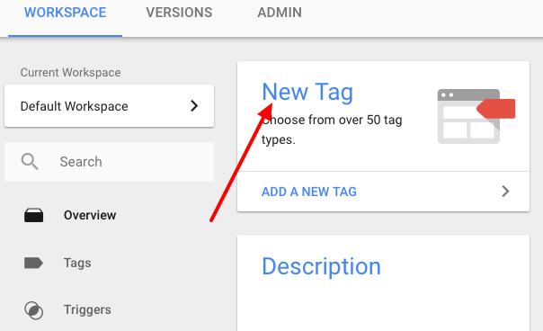 New tag in google tag manager - تگ جدید در گوگل تگ منیجر
