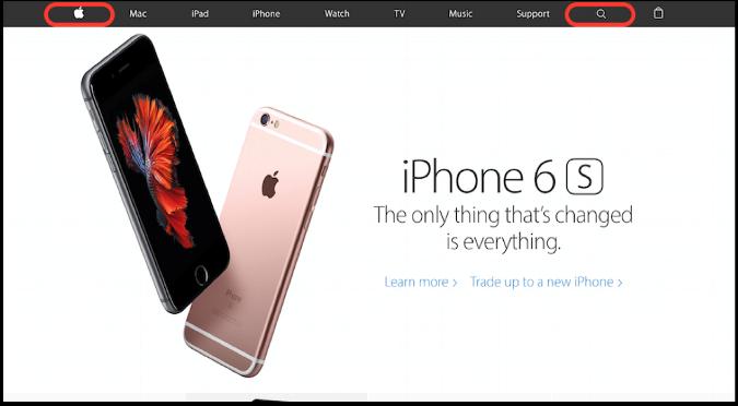 تبعیت از الگوی F در طراحی سایت اپل