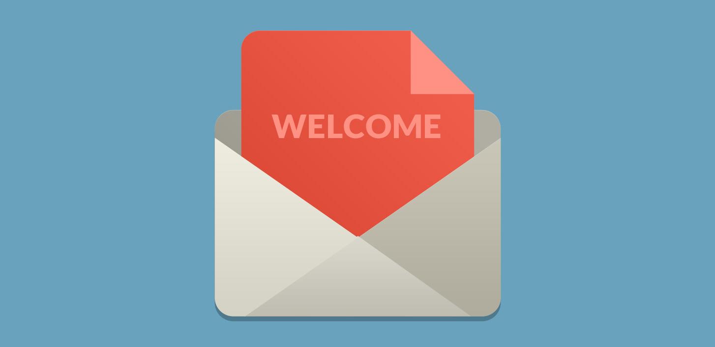 ایمیل خوش آمد گویی به کاربران