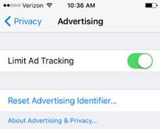 محدود کردن فرآیند زیرنظر گرفتن رفتار کاربر برای نمایش آگهی در آیفون
