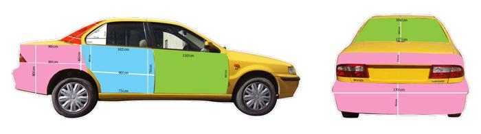 تبلیغات روی تاکسی