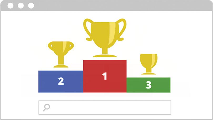 رتبه های برتر در موتور جستجو گوگل